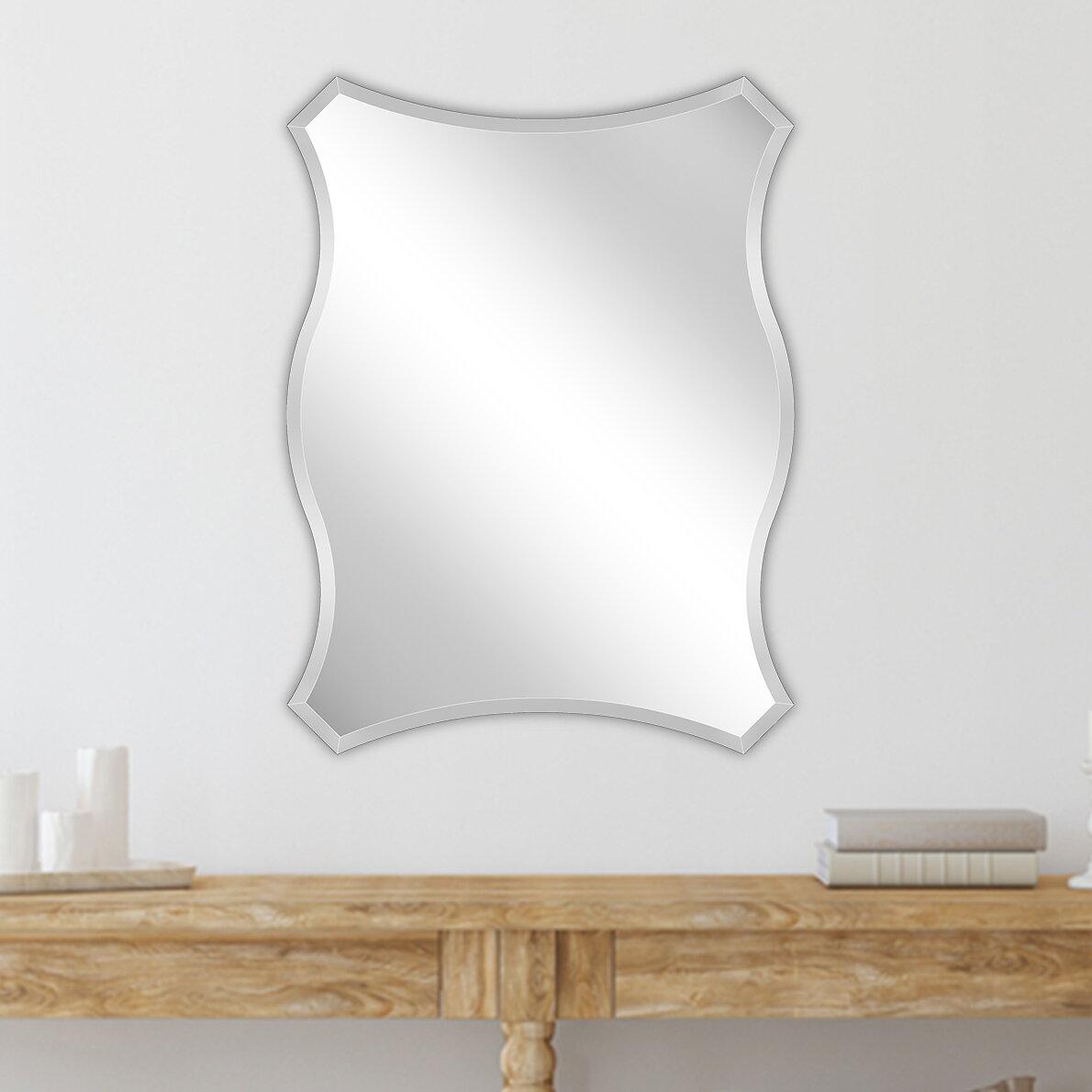House Of Hampton Bruner Beveled Wall Mirror Wayfair