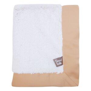 Framed Peek-A-Boo Faux Fur Receiving Blanket