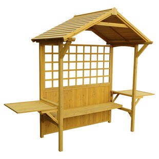 Leisure Season 2 in 1 Seated Party Wood Arbor