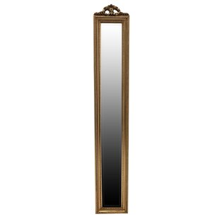 Slim Gold Wall Mounted Mirror