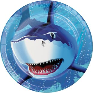 Shark Splash Paper Plates (Set of 24)