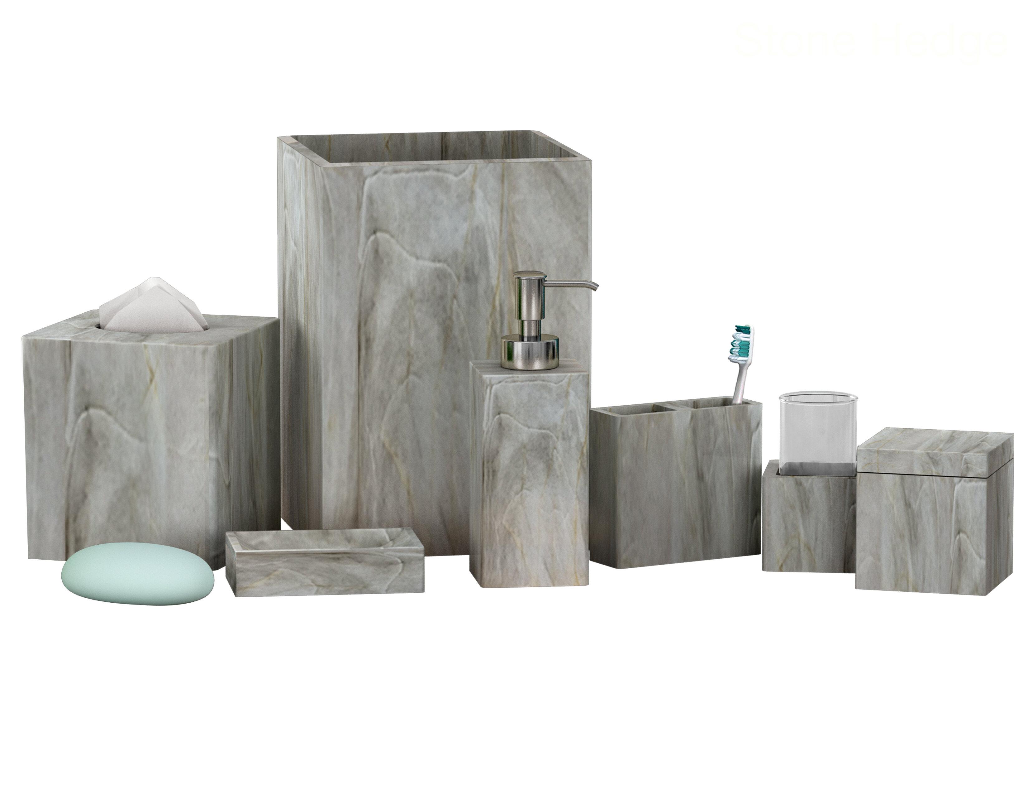 Latitude Run Almerindo Resin 7 Piece Bathroom Accessory Set Reviews Wayfair
