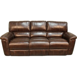 Blair Dual Leather Reclining Sofa by Red Barrel Studio Comparison