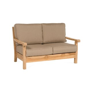 Chasity Teak Loveseat With Sunbrella Cushion by August Grove Best