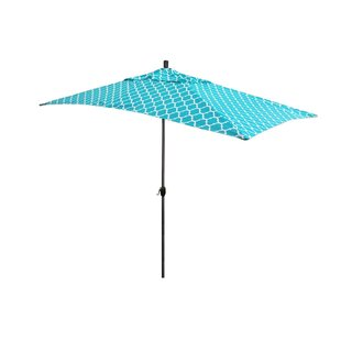 Sherlyn 10' x 6' Rectangular Market Umbrella by Breakwater Bay