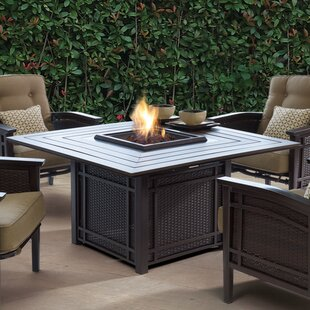 World Menagerie Cort Aluminum Propane Fire Pit Table