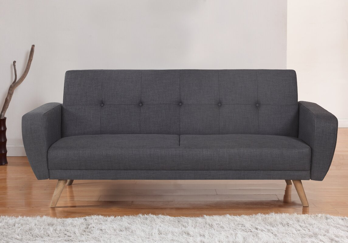 Fjørde & Co Agneta 3 Seater Clic Clac Sofa Bed & Reviews | Wayfair.co.uk