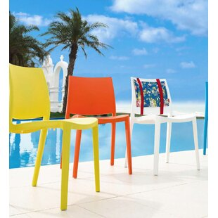 Loggins Stacking Patio Dining Chair (Set of 2)