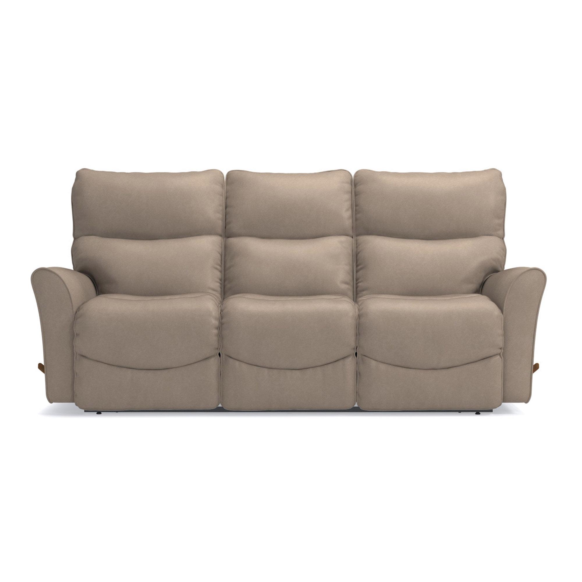 La Z Boy Rowan Leather Manual Reclining Sofa Wayfair