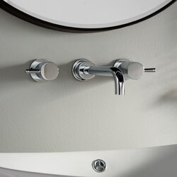 Bathroom Faucet In Wall american standard serin wall mounted bathroom faucet with double