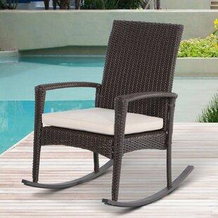 Rattan Rocking Chair With Cushion