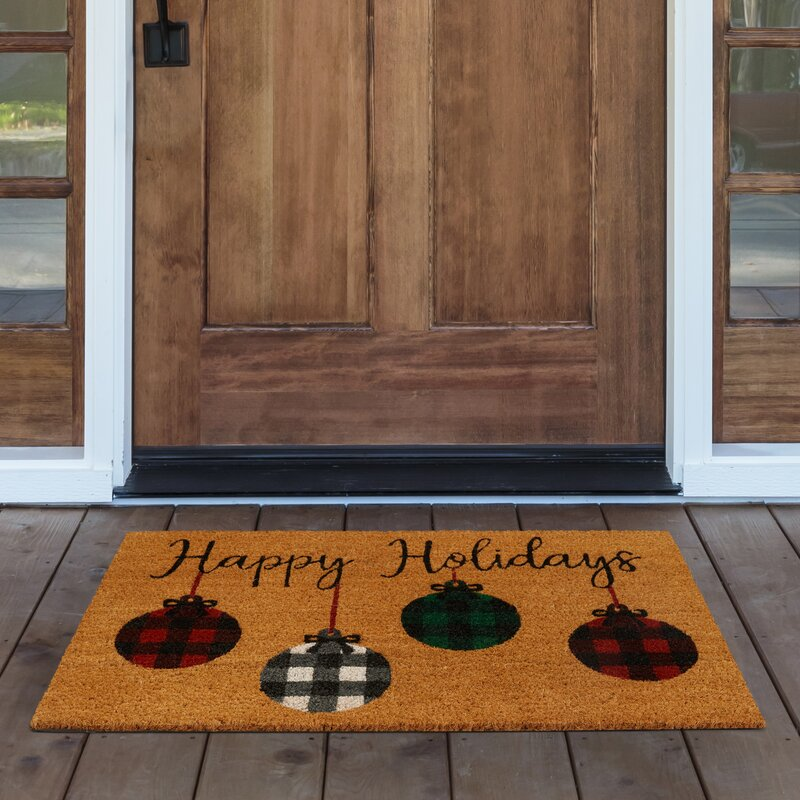 The Holiday Aisle Lindholm Living Ornaments 30 In X 18 In Non Slip Outdoor Door Mat Reviews Wayfair