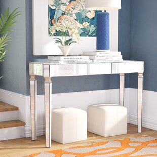Paulsen Mirrored Console Table by House of Hampton