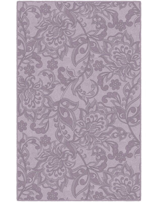 Winston Porter Lisbeth Traditional Jacobean Floral Purple Area Rug, Size: Rectangle 76 x 10