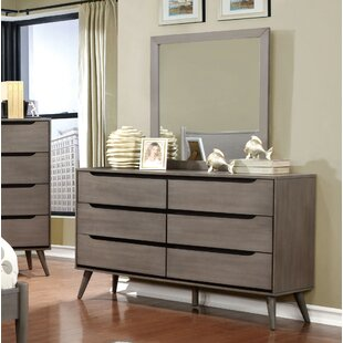 Mercury Row Mason 6 Drawer Double Dresser wi..