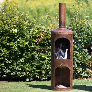 Aspatria Steel Wood Burning Outdoor Fireplace By Sol 72 Outdoor