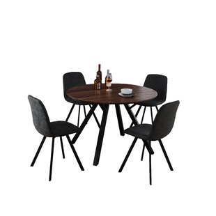 Malmo Design Round Table 5 Piece Solid Wood Dining Set by Williston Forge