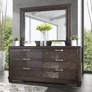 Gilstrap 6 Drawer Double Dresser and Mirror