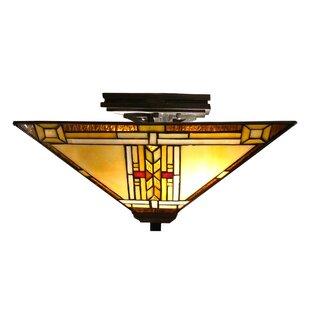 Astoria Grand Hackmore 2-Light Semi Flush Mount