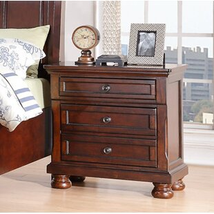 Elkland 3 Drawer Nightstand