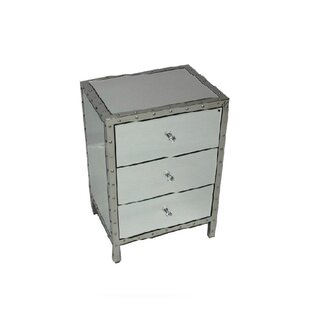 Waubun 3 Drawer Nightstand