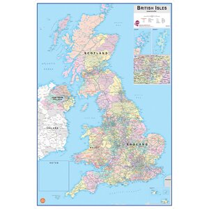 British Isles Dry Erase Map Wall Stickers