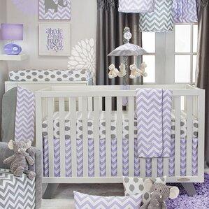 swizzle 3 piece crib bedding set