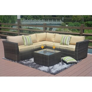 Lynmouth 4 Piece Rattan Sectional Seating Group