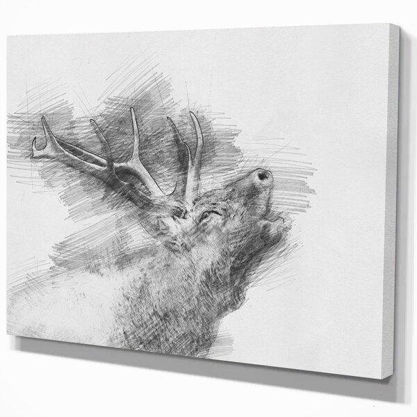Black And White Deer Print Wayfair