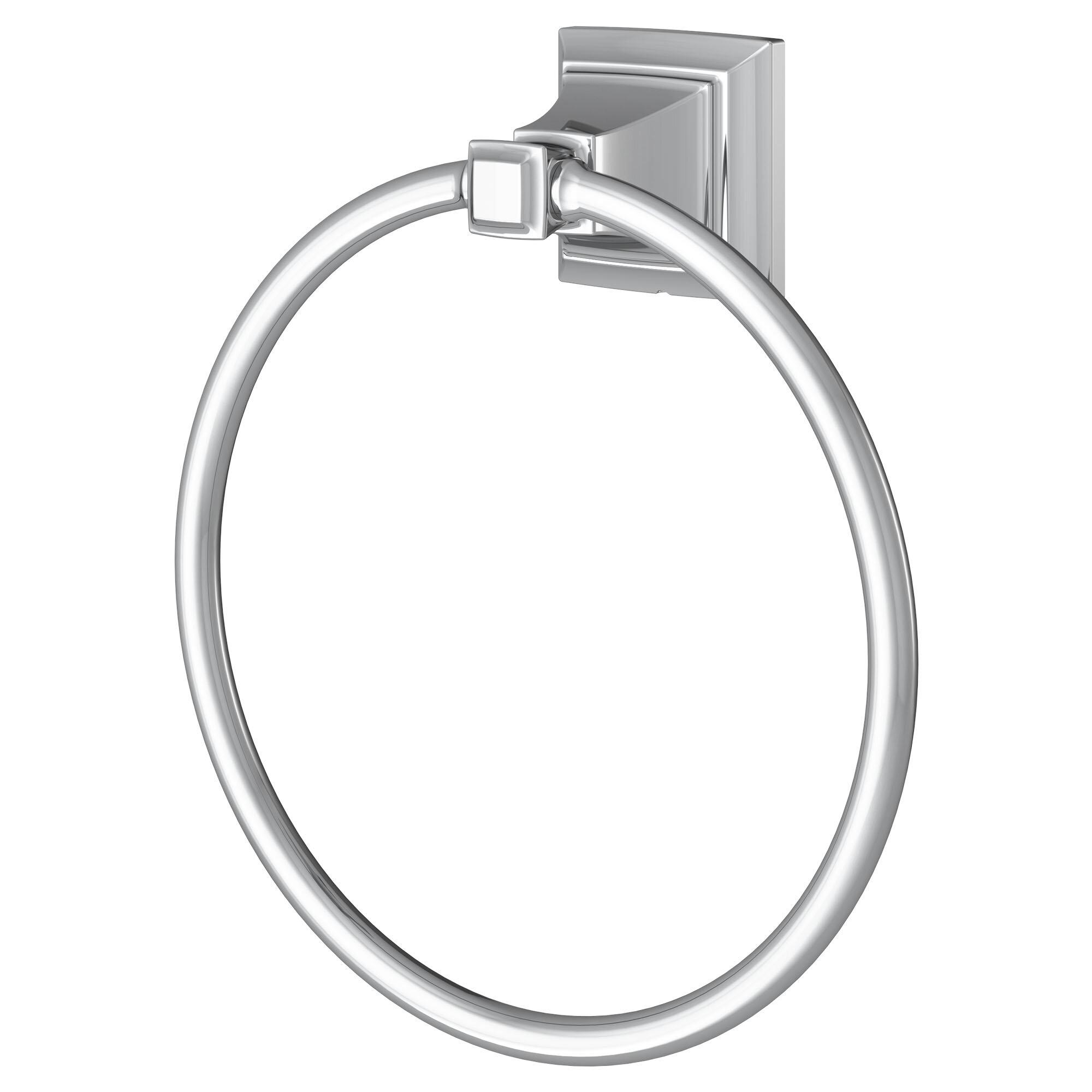 Chrome Basics Traditional Towel Ring