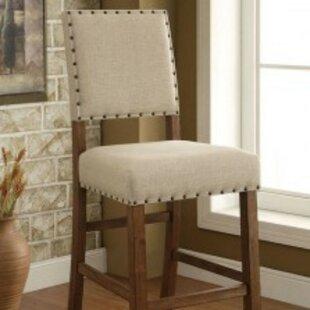 Kamar Upholstered Contemporary 3025 Bar Stool Set of 2 by Red Barrel Studio