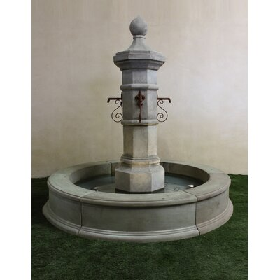 Giannini Garden Ornaments Octavia Column Concrete Fountain