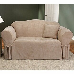 Soft Suede Box Cushion Sofa Slipcover By Sure Fit