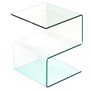 glass side table. Alisa Side Table With Storage Glass