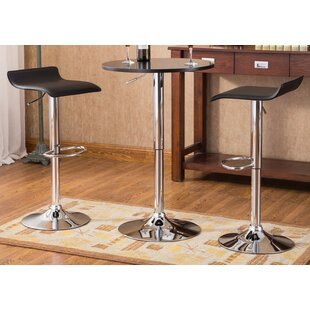 Baxton 3 Piece Pub Table Set
