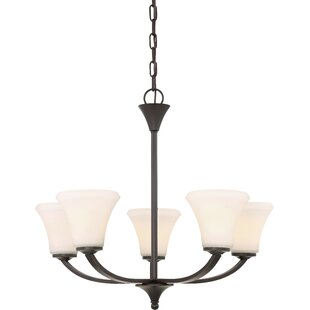 Best Price Olsson 5-Light Shaded Chandelier By Andover Mills