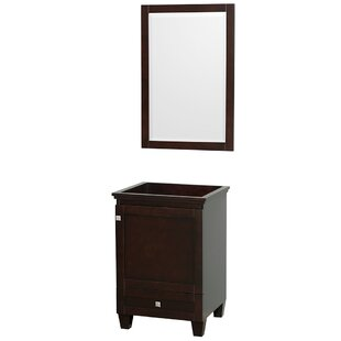 Acclaim 23 Single Bathroom Vanity Base with Mirror by Wyndham Collection