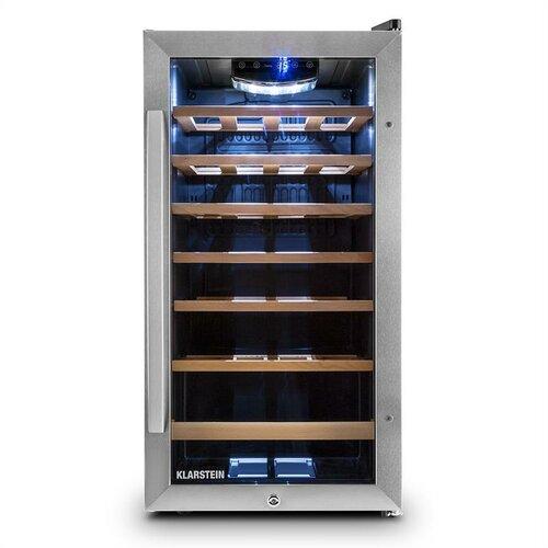 Vivo Vino 26 Freestanding Wine Refrigerator Klarstein Silver,Black