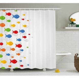 Fish Decor Shower Curtain