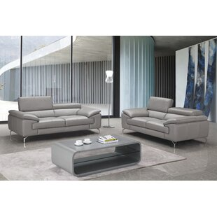 Mayer Leather Configurable Living Room Set