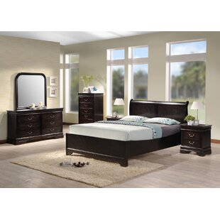 Apolonio Panel 4 Piece Bedroom Set