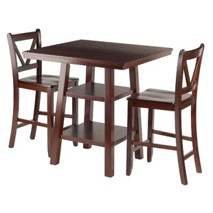 Pratt Street 3 Piece Dining Set Red Barrel Studio