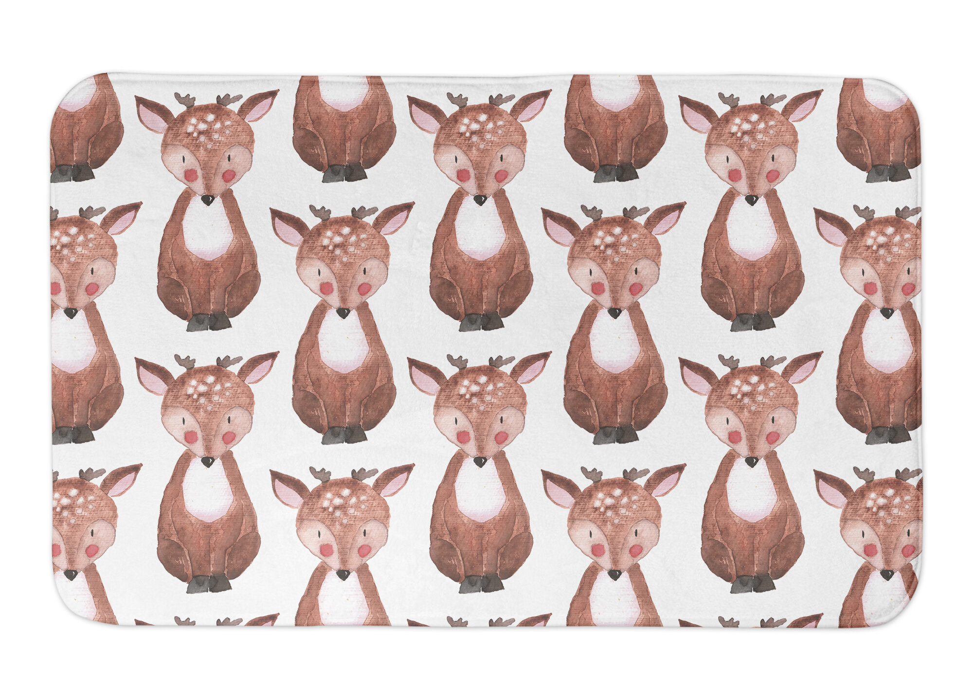 Deann Deer Pattern Bath Rug