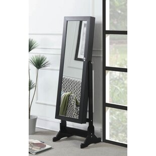Caistor Free Standing Jewelry Armoire with Mirror