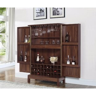 Kranzo Wooden Bar Cabinet with Wine Storage