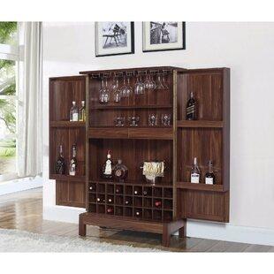 Kranzo Wooden Bar Cabinet with Wine Storage