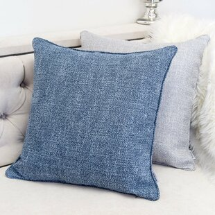 Textured Linen Throw Pillow