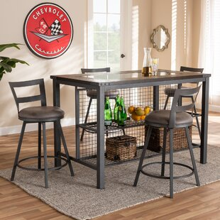 Karina 5 Piece Pub Table Set by 17 Stories