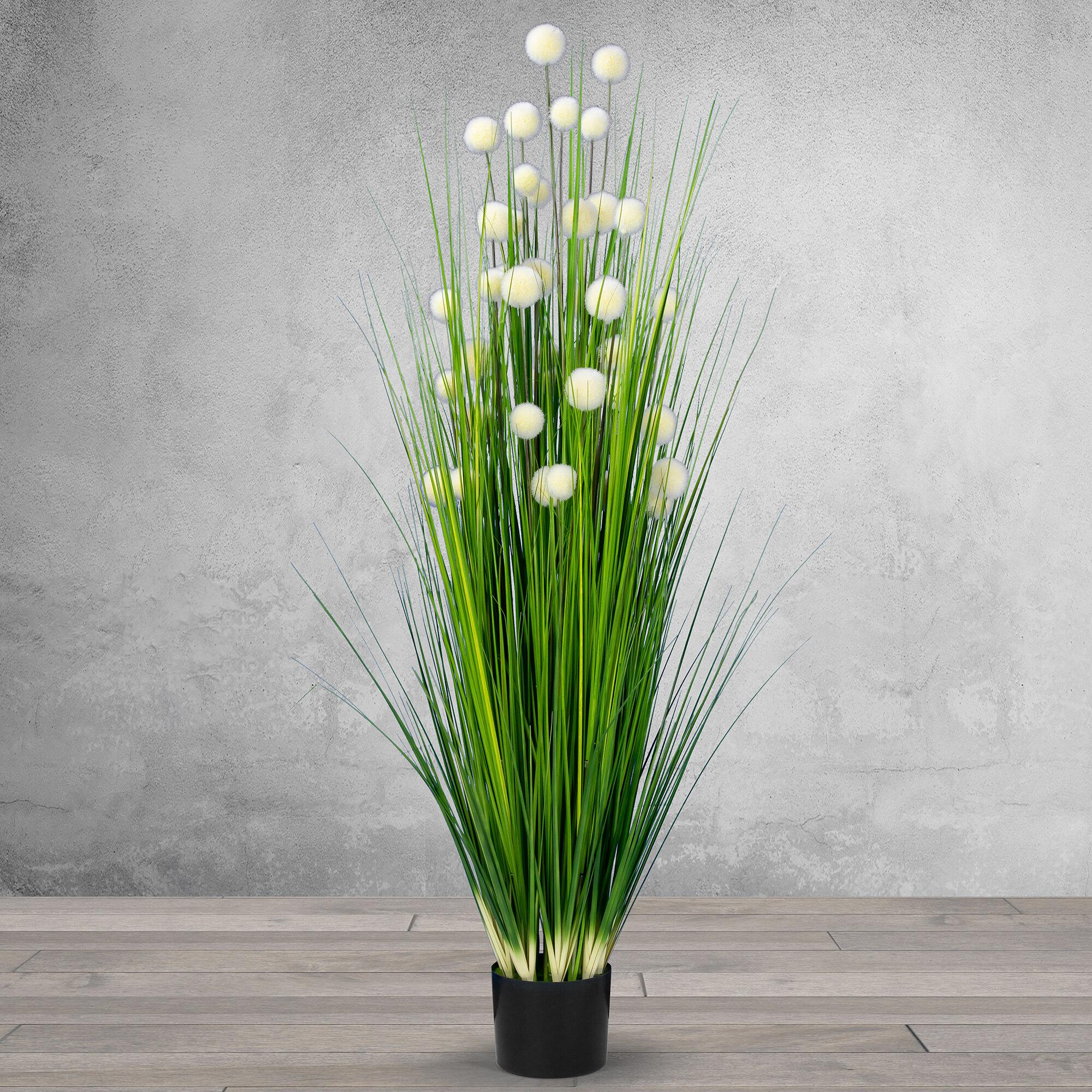 Latitude Run Artificial Reed Flowering Plant In Pot Reviews Wayfair