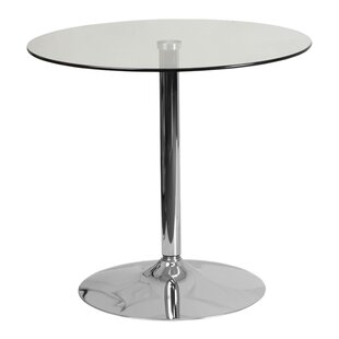 Orren Ellis Delora Glass Bar Table
